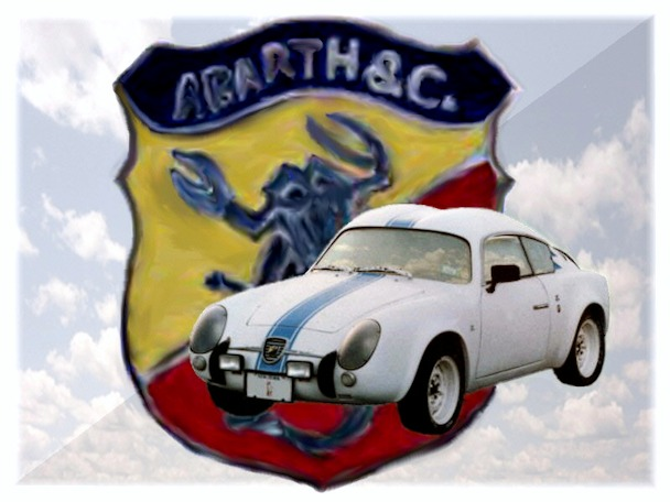 Jim Romanos double bubble and the Abarth scorpion emblem